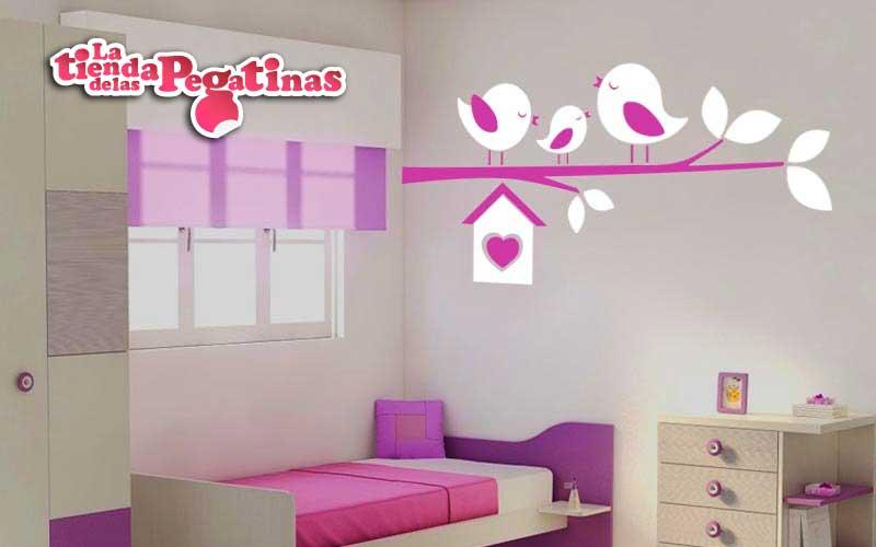 Stickers de pajaritos en la tienda de las pegatinas for Pegatinas habitacion infantil