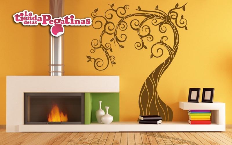 Vinilos para paredes de salon moderno vinilos para - Salones con vinilos decorativos ...