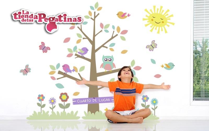 Arboles en vinilo para decorar 3 blog vinilos for Pegatinas pared arbol infantil