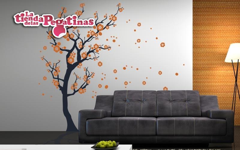 Vinilos decorativos florales pon un vinilo floral en tu for Pegatinas vinilo pared