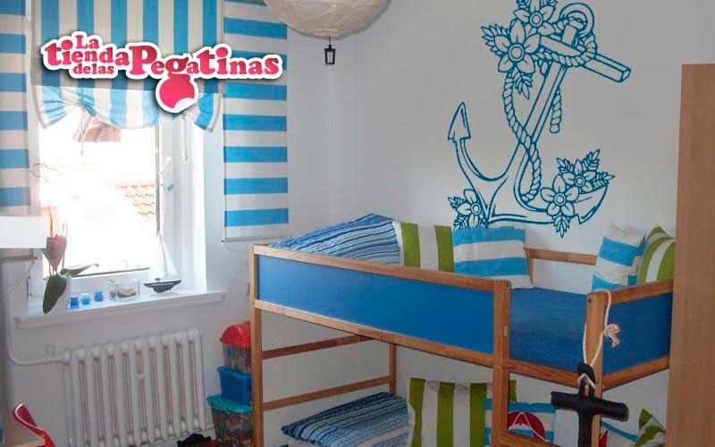 Pegatinas infantiles originales pegatinas azules for Vinilos ninos originales