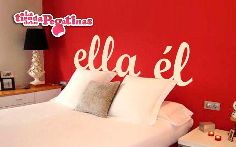 Como decorar un dormitorio con vinilos con ejemplos - Vinilos para cabeceros de cama ...