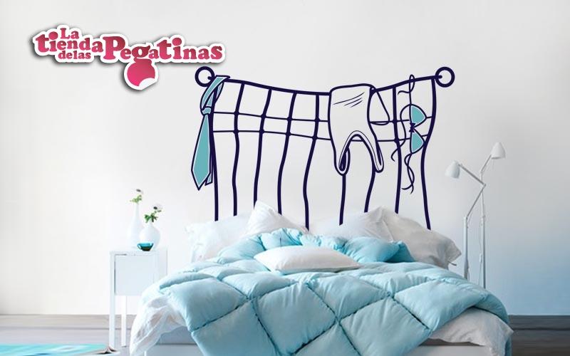 Cabeceros de cama originales 2 blog vinilos - Vinilo cabecero cama ...