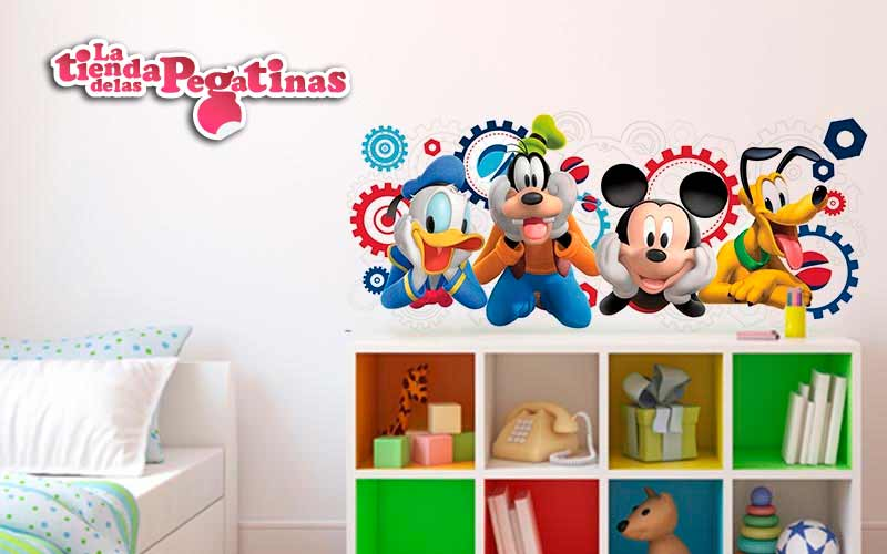 Pegatinas de mickey para decorar for Pegatinas decorativas pared infantiles