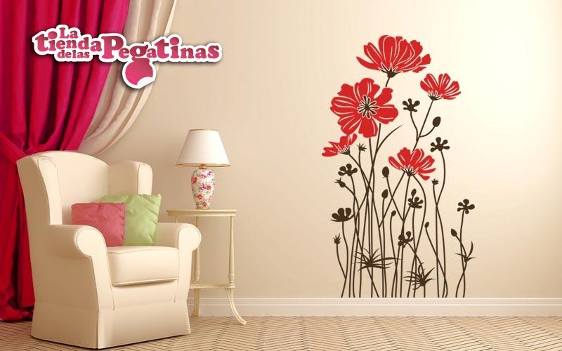Vinilos decorativos florales pon un vinilo floral en tu - Vinilos para entradas ...