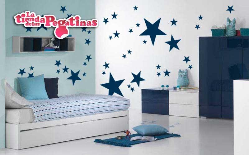 Como decorar habitaci n infantil con vinilos de estrellas for Vinilo techo habitacion