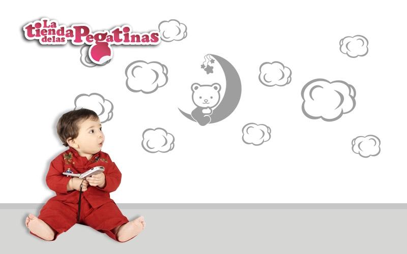 Pegatinas de ositos para habitaciones infantiles for Vinilos pared gotele