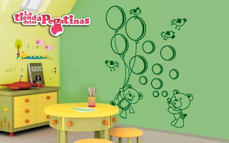 Vinilos decorativos de ositos la tienda de las pegatinas for Pegatinas vinilos infantiles
