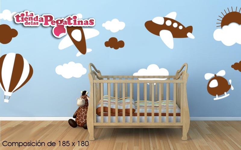 Estilos para decorar la habitacion del bebe blog for Pegatinas para habitacion bebe