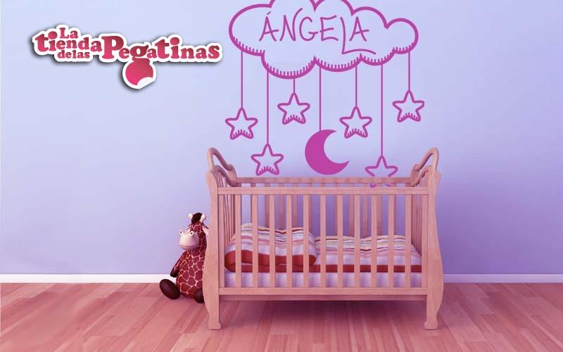 Vinilos decorativos infantiles con el nombre personalizado - Vinilos personalizados pared ...