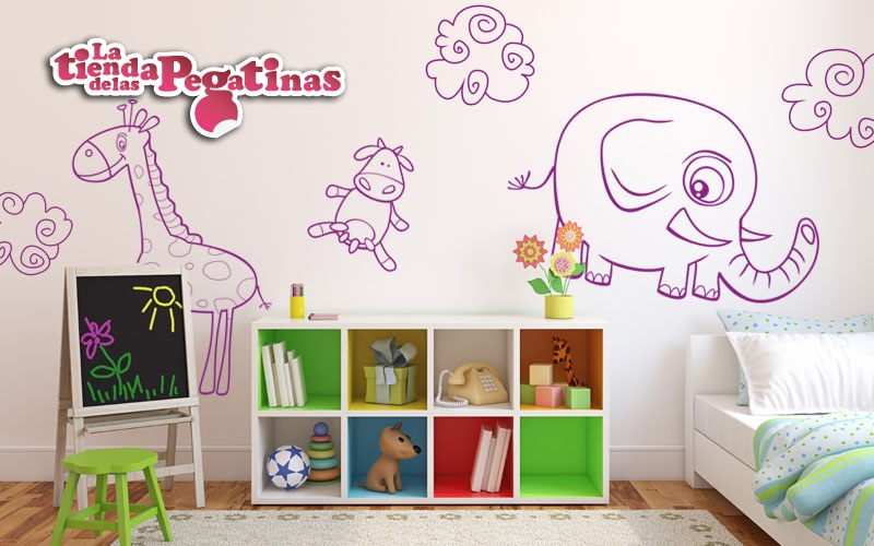 Vinilos infantiles de animalitos pegatinas con animales 1 - Imagenes de vinilos infantiles ...