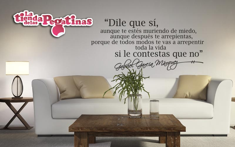 Vinilos decorativos iv vinilos con frases blog vinilos - Pegatinas pared frases ...