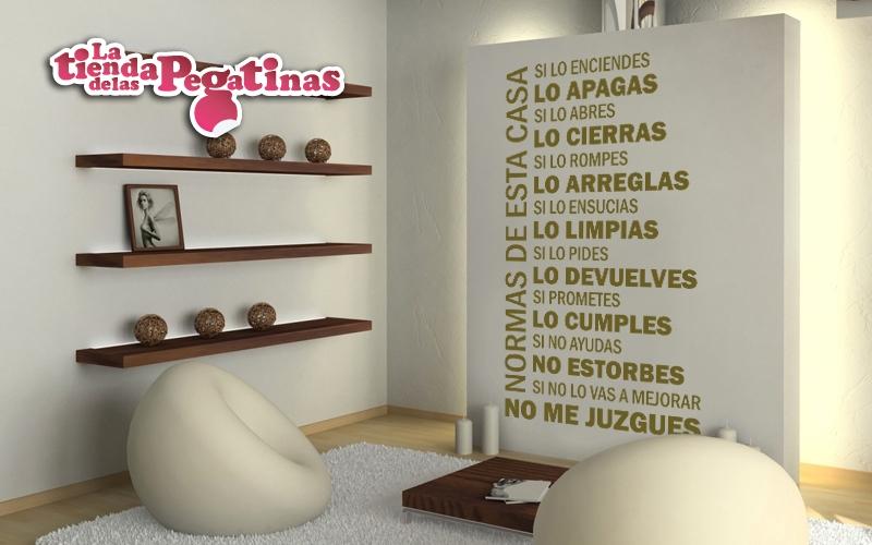 Vinilos decorativos iv vinilos con frases blog vinilos for Normas de la casa decoracion