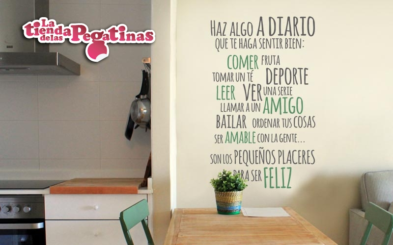 Vinilos decorativos textos 2 blog vinilos decorativos for Pegatinas frases pared