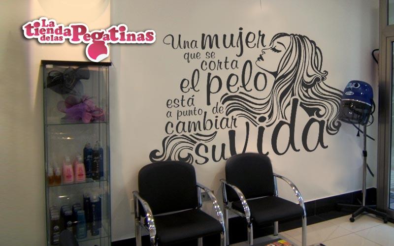 Nuevas pegatinas de vinilo con frases 1 blog vinilos for Decoracion en peluquerias