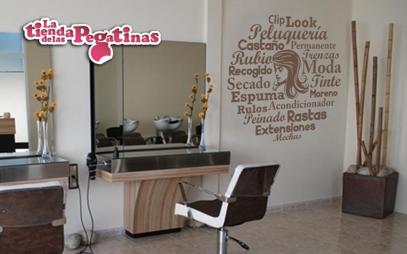 Vinilos decorativos para peluquer as y centros de belleza for Decorar mi centro de estetica