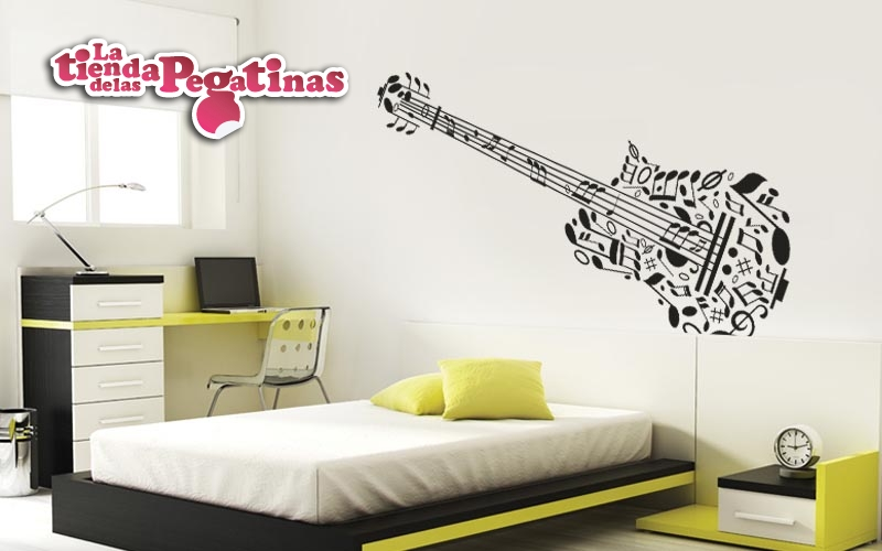Pegatinas musicales para decorar 4 blog vinilos for Vinilo decorativo musical pared