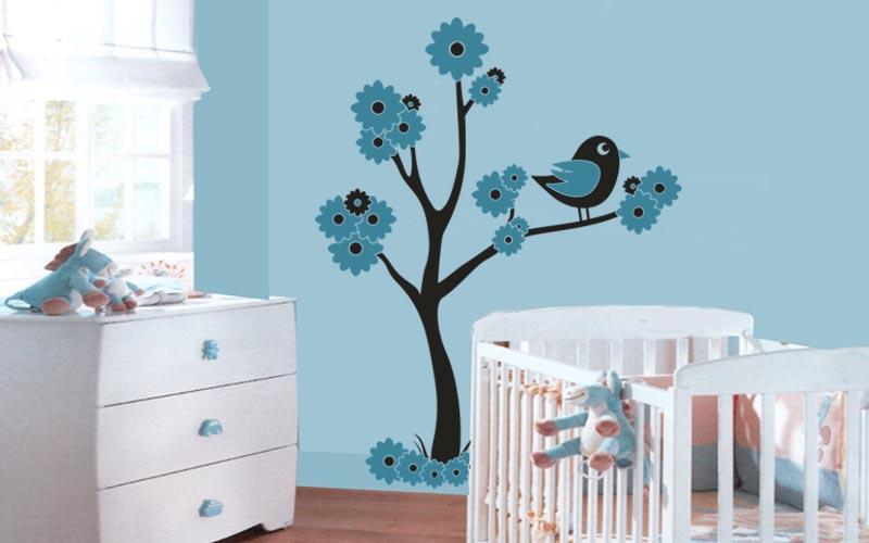 Consejos para decorar con vinilos de pajaritos for Pegatinas vinilos infantiles