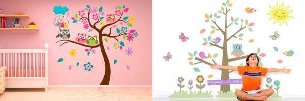 vinilos infantiles de árboles