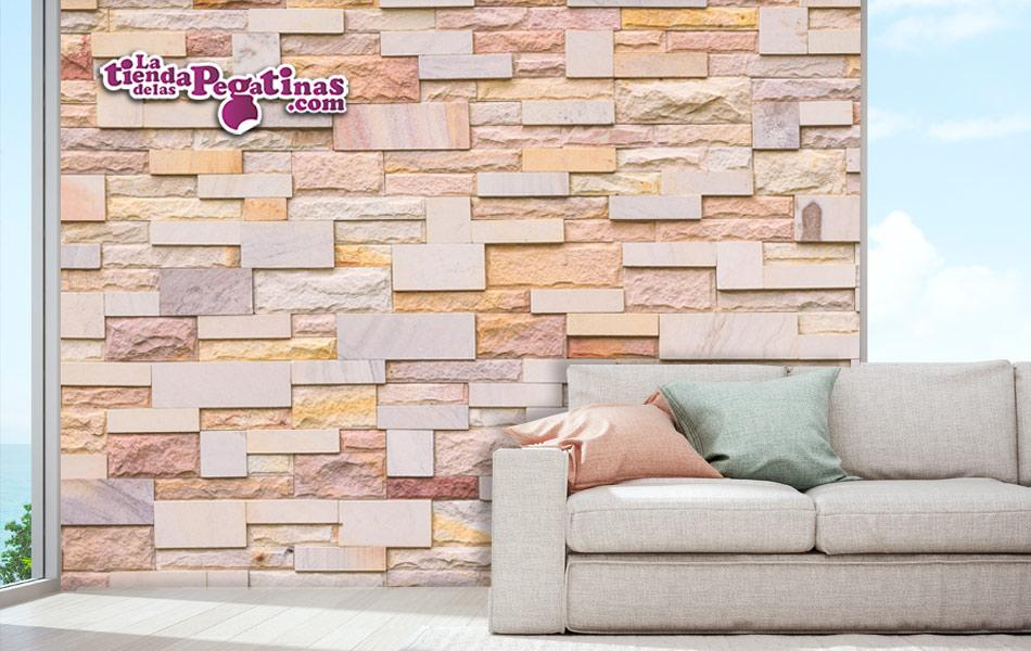 Fotomural Textura de Piedras Variadas Colores Claros