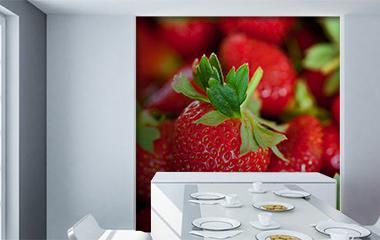 mural de frutas para pared