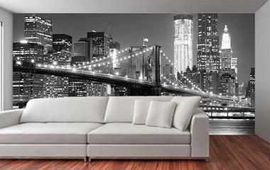 murales blanco y negro