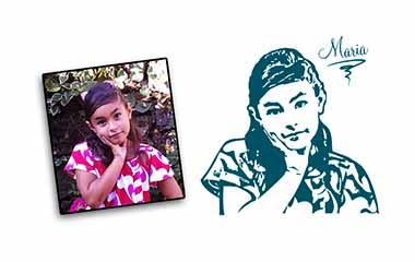 vinilos retratos infantiles