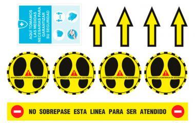Kit 10 Pegatinas Distancia de Seguridad (Circulares)