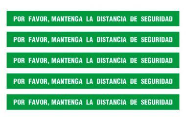 Kit 5 Pegatinas Distancia de Seguridad Verdes