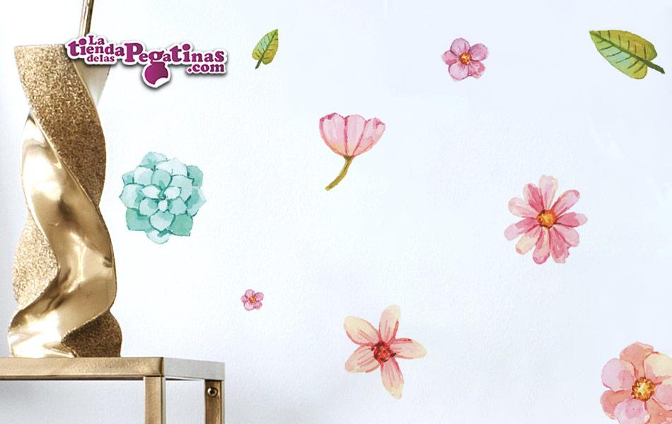 Vinilo Decorativo Pegatinas Flores de Acuarela