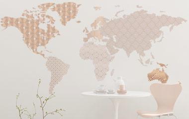 Vinilo decorativo Mapamundi Textura