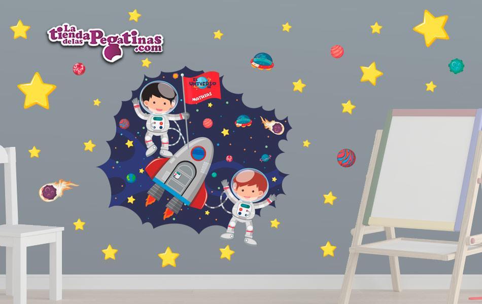 Vinilo infantil Pequeños Astronautas