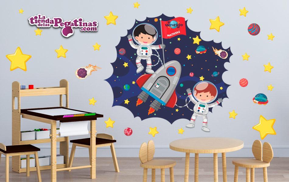 Vinilos Decorativos Planetas.Vinilo Infantil Pequenos Astronautas La Tienda De Las