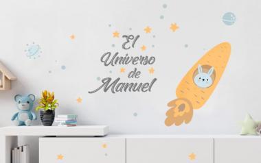 Vinilo Infantil El Universo de