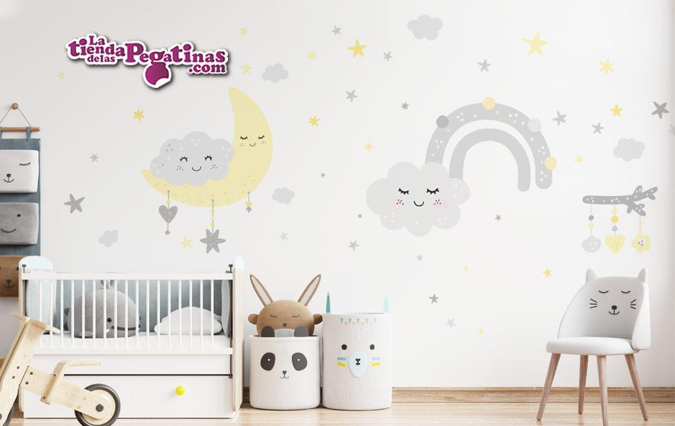 Vinilo Infantil Nubes Alegres BEBE
