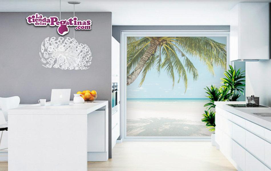 Vinilos para cristales con paisaje de playa