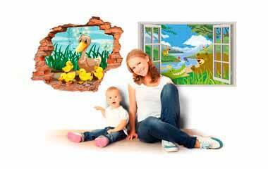 vinilos 3d infantiles