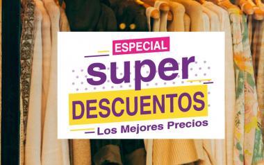 Cartel de Rebajas Super Descuentos en Papel Escaparates tiendas cristaleras
