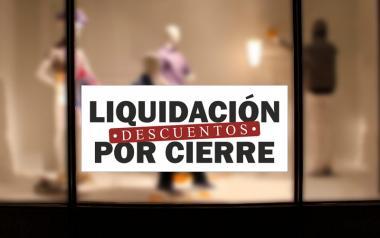 Cartel de Rebajas Liquidación por Cierre en Papel