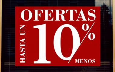 Cartel Ofertas hasta un 10 % en Papel