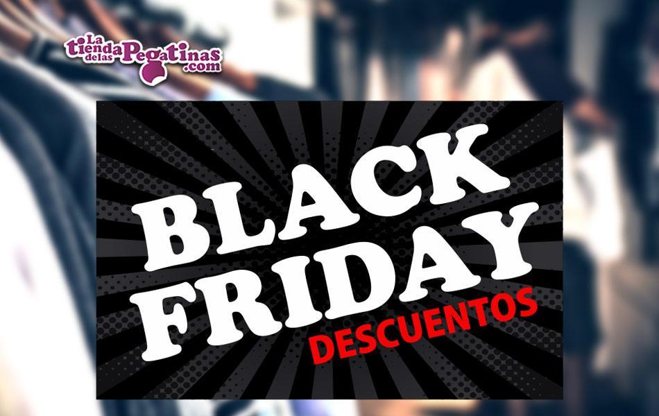 Cartel Black Friday Descuentos en Papel