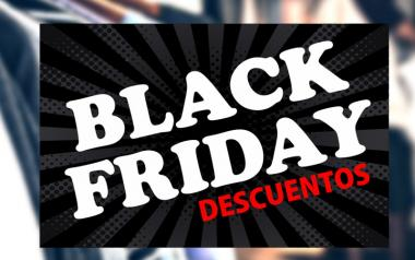 Cartel Black Friday Descuentos en Papel