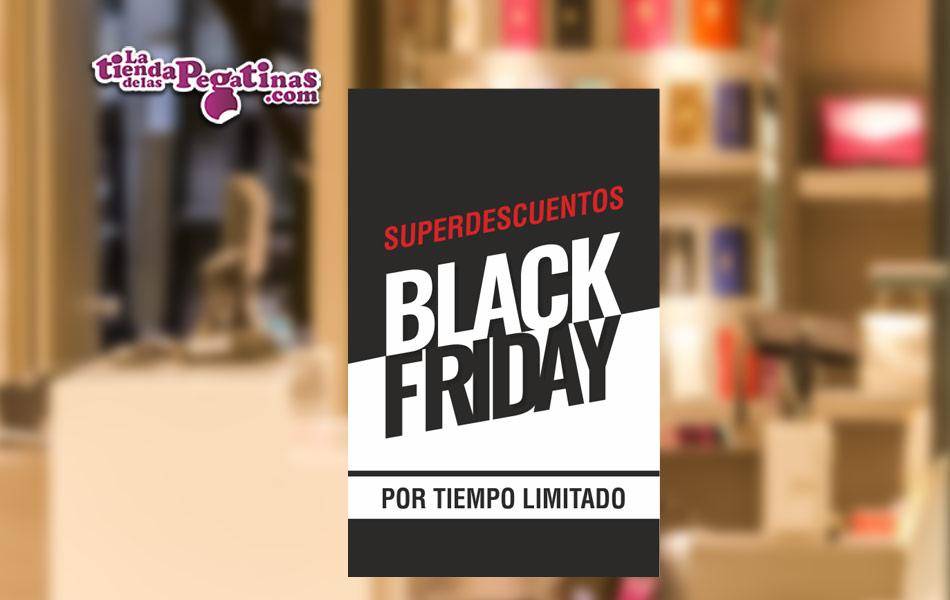 Cartel Superdescuentos Black Friday en Papel