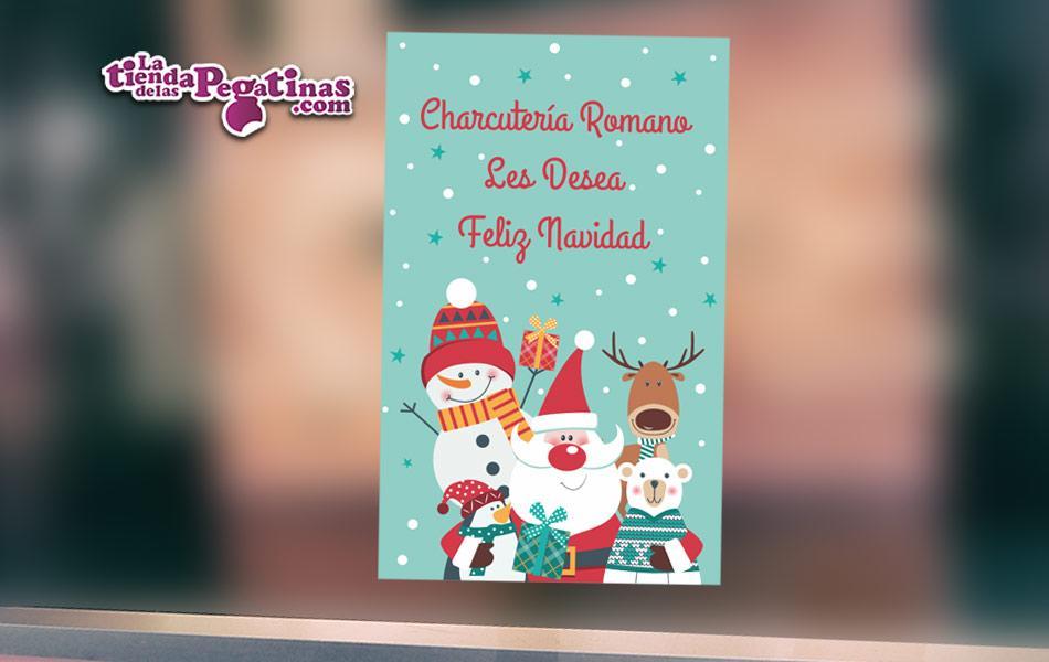 Cartel te deseamos feliz navidad en Papel