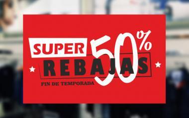 Cartel Super Rebajas Fin de Temporada en Papel