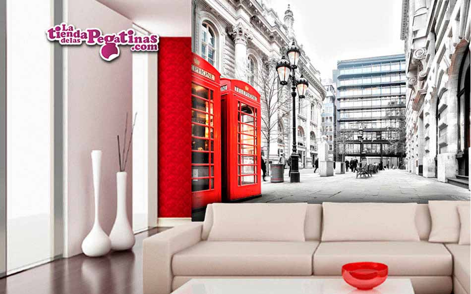 Fotomural Cabinas telefónicas en Londres