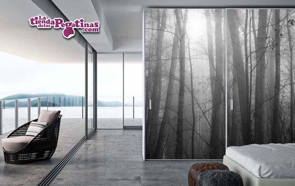 fotomural-niebla-en-el-bosque