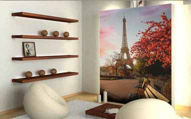 Fotomural Paseo hacia la Torre Eiffel