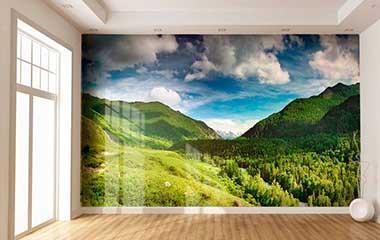 Fotomural Valle de alta montaña
