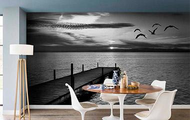 Fotomural Atardecer en el lago
